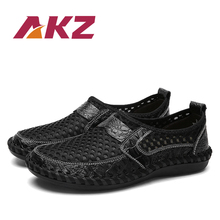 AKZ Man Spring Summer Loafers Air Mesh casual shoes For men High Quality Breathable Comfortable Light shoes Slip on Big Size new 2017 men shoes mesh casual light breathable high quality fashion men shoes comfortable spring summer trainers shoes st173