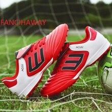 FANCIHAWAY size35-45 Botas de fútbol Superfly TF Botas de fútbol alto tobillo Hombres zapatillas de deporte Niños Béisbol nuevo fútbol zapatos de interior