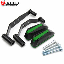 1 Pair CNC Body Engine Guard Frame Sliders Crash Pads Case Drop Stick Protector of motorcycle Arms For Kawasaki Z900 Z 900 17 18