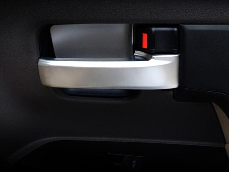 Prix pour Chrome Intérieur Poignée De Porte Cover Versions 4 pcs pour Toyota Land Cuiser 200 2006-2016 Car Styling Accessoires