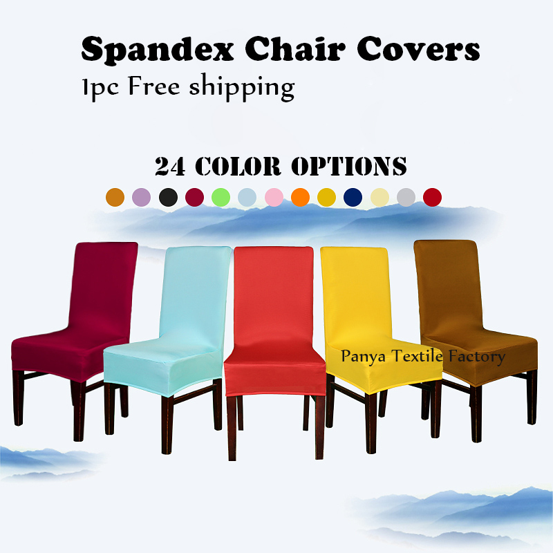 Free Shipping 1PC Fit Universal Stretch Spandex Pattern Chair Cover For  Kitchen Hotel Dining Office Decorative