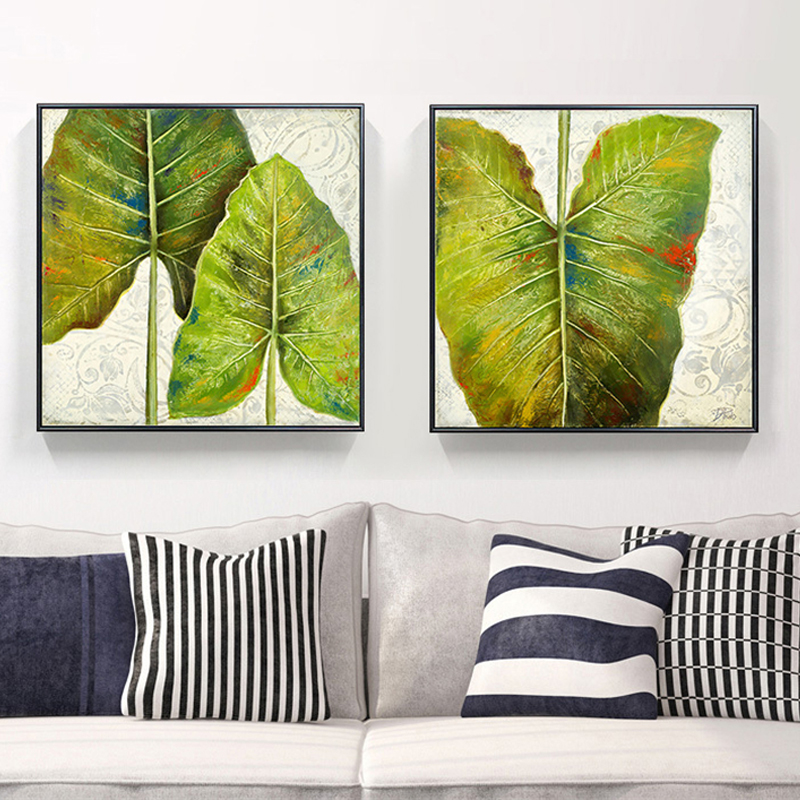 Us 7 89 40 Off Modern American Past Simple Combination Plant Basho Banana Leaf Decorative Painting Art Canvas Print Wall Posters Home Decor In