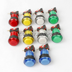 10x New 30mm LED Illuminated Push Buttons For Arcade Games Parts Mame Multicade JAMMA Choice of>
