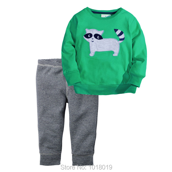 New 2017 Branded Quality 100% Cotton Baby Boys Clothing Sets 2pcs Children Suits Toddler Kids Clothes Long Sleeve Baby Boys Sets 2t 7t high quality cotton baby boy kids toddler children suits clothing clothes set 2pcs baby boys clothing sets summer x16