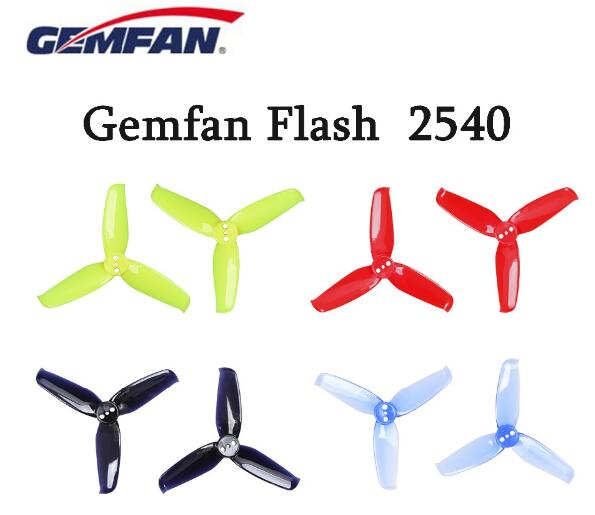 10 pairs Gemfan Flash 2540 2.5x4 2.5 Inch 3-Blade Propeller with 1.5mm Mounting Hole For 1105 <font><b>1106</b></font> <font><b>Motor</b></font> image