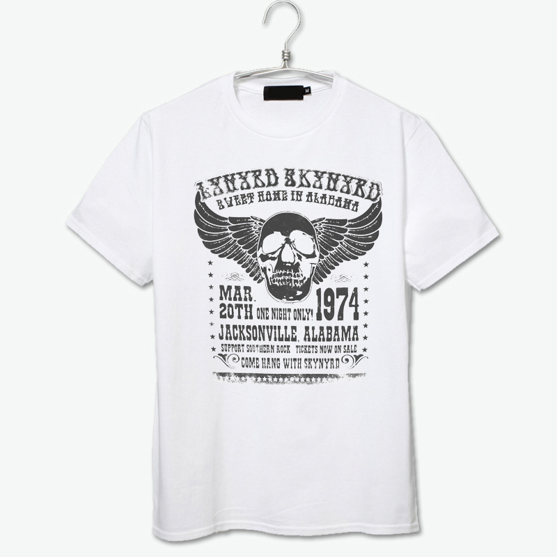 d40215d5 Lynyrd Skynyrd cotton T-shirt casual style slim skinny British type vintage  fashion t shirt