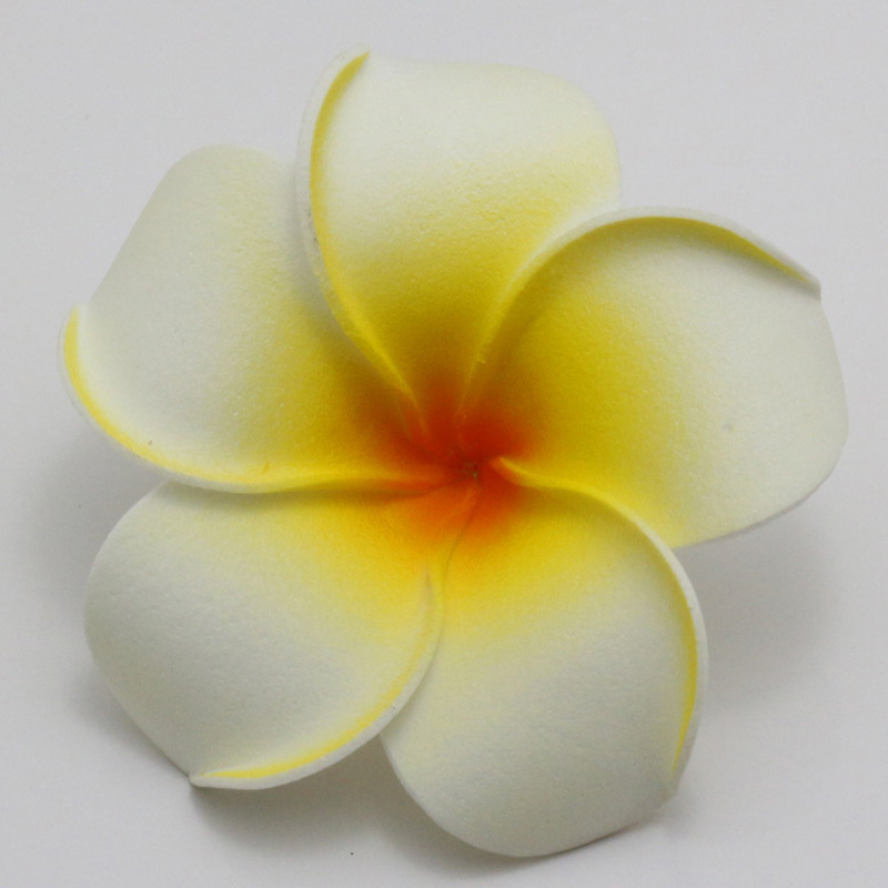 50pcs big 6cm plumeria hawaiian foam frangipani flower artificial silk fake egg flower for. Black Bedroom Furniture Sets. Home Design Ideas