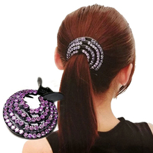 Модные женские заколки для волос, заколка для волос с кристаллами в виде птичьего гнезда, заколка для волос с конским хвостом, заколки для волос, женские аксессуары для волос с кристаллами