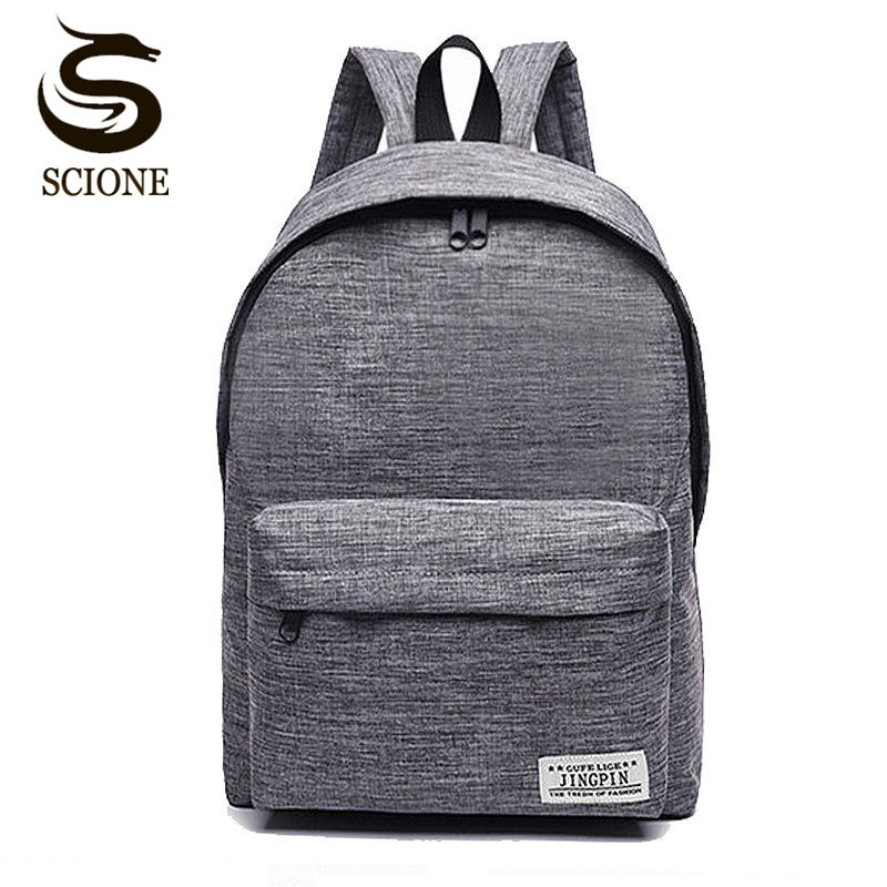 Scione Korean Simple Canvas Backpack Male/female School Laptop Backpack For Teenagers Travel Bagpack Stachels Rucksack Mochila