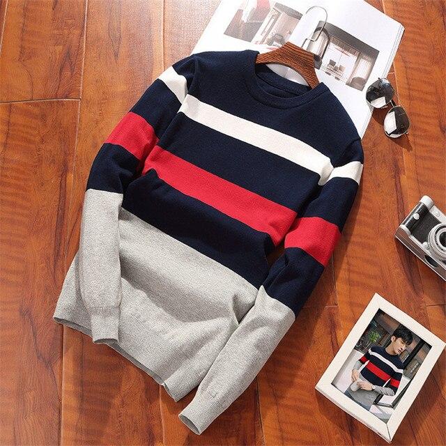 2018 nuevo Otoño e Invierno de los hombres suéter coreano