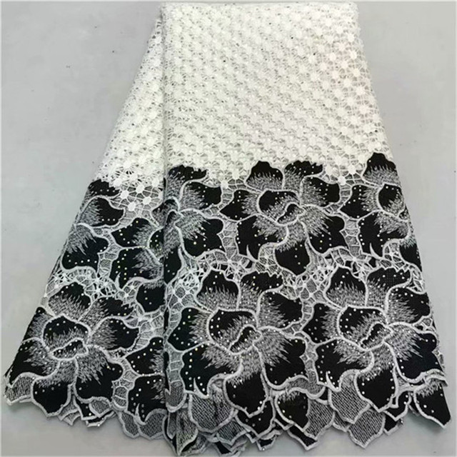 2018 New Design African Cord Lace Guipure Lace Fabrics High Quality 2018 Latest Fashion African Lace Fabric