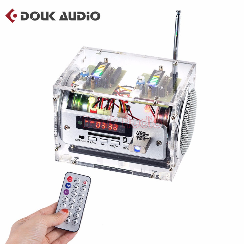 Douk Audio Multifunction 10W Amplifier Audio Music Player Speaker Bluetooth FM Radio USB SD аудиосистема boss audio marine mc520b 2 динамика 3 600 вт usb sd fm bluetooth