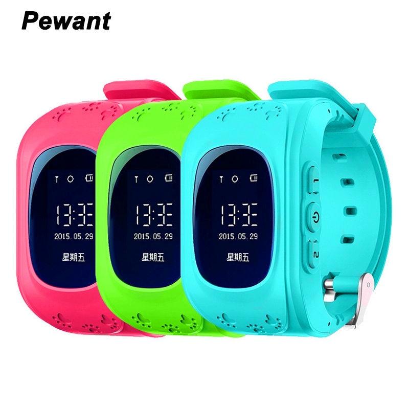 imágenes para Original Pewant Q50 Bebé Inteligente Reloj Con GPS Tracker SOS Perdida Anti Monitor Smartwatch para Niños Niños PK Q90 Q100 Q750