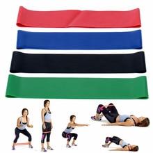4 izmēru / komplektu dabiskās lateksa elastīgās cilpas pretestības lentes trenažieru zāle stiprības kāju treniņu fitnesa jogas aprīkojuma vingrinājuma josla