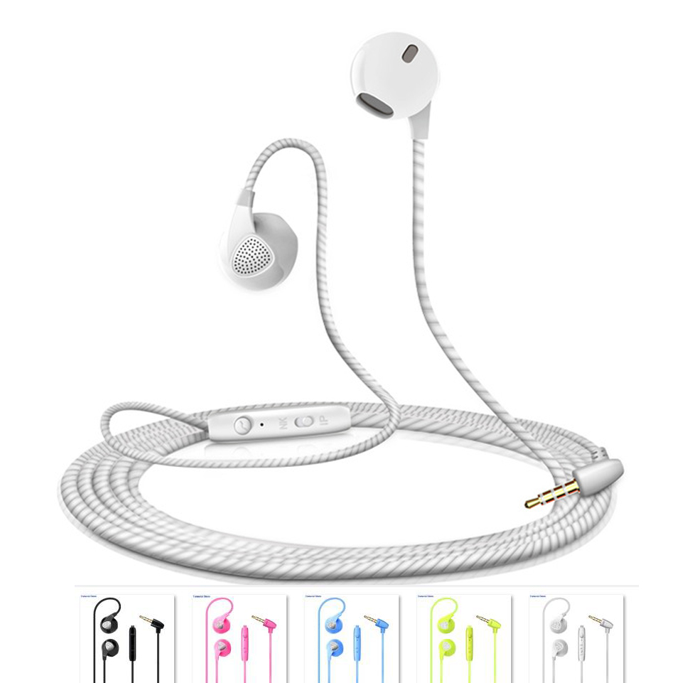 Earphones Wired In-ear Earbuds with Microphone Stereo Headset For Apple Huawei Sony Samsung HTC LG Motorola moto Lenovo Redmi 3 5mm in ear bass headset v moda headphones hifi earbuds mobile earphones for apple samsung htc sony