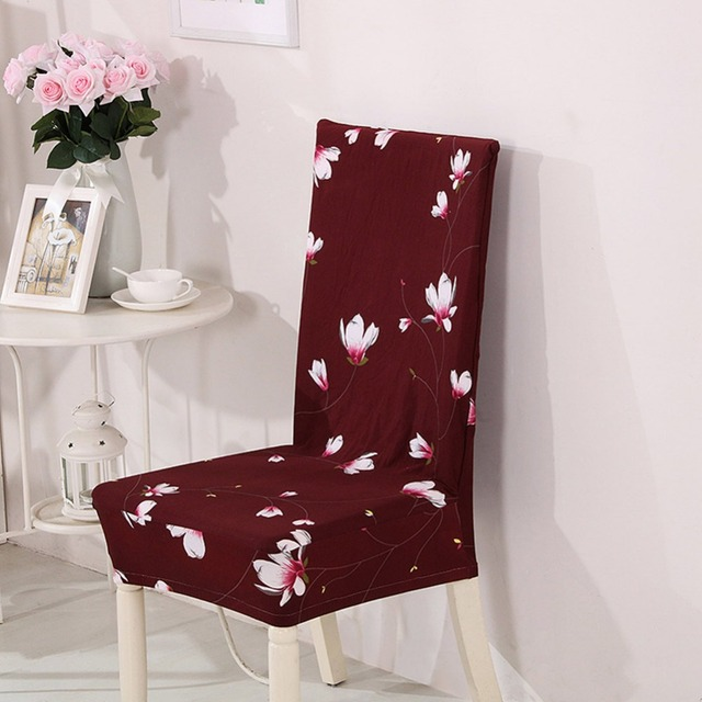 Meijuner Chair Cover Printing Flower Universal Chair Case Extending