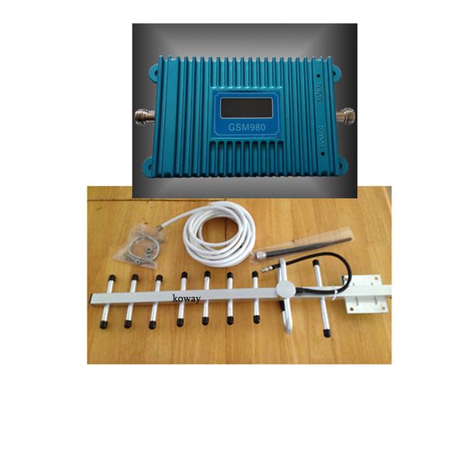 Impulsionadores do sinal de telefone móvel GSM, telefone celular GSM repetidor de sinal gsm amplificador de sinal com antena yagi conjunto completo LCD exibição