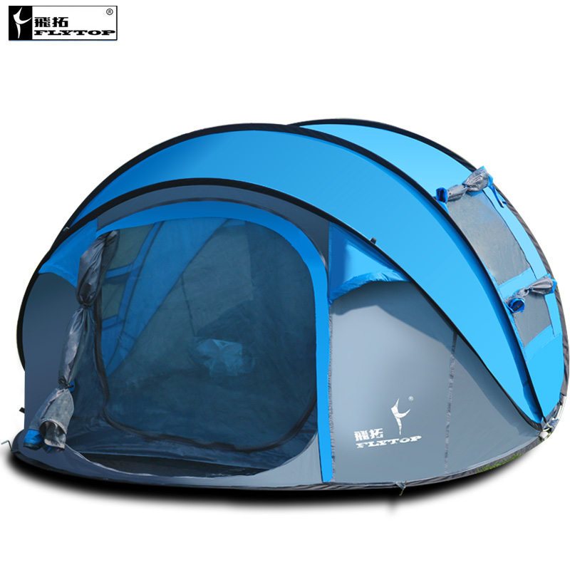 ФОТО Ultralarge automatic 4-5 person high quality pop up speed to open camping tent large gazebo sun shelter