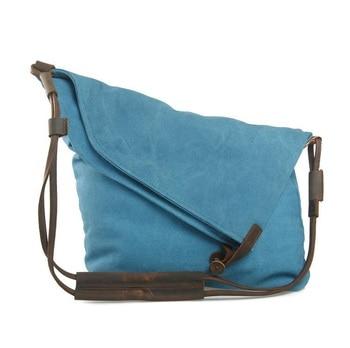 M023 Women Messenger Bags Female Canvas Leather Vintage Shoulder Bag Ladies Crossbody Bags for Small Bucket Designer Handbags 11