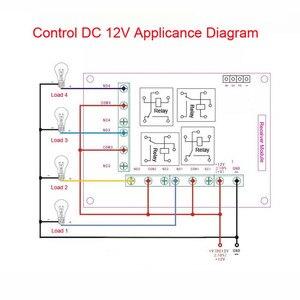 Image 4 - רגישות גבוהה עבור DC 12 V הקטן 4CH ערוץ אלחוטי שלט רחוק מתג רדיו בקר משדר 315 mhz 200 m מקלט