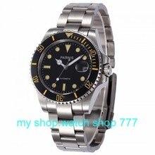 Высокое качество ПАРНИС 40 мм Азии механическое движение мужские часы с Керамическим безелем и сапфировое стекло 000275aaa