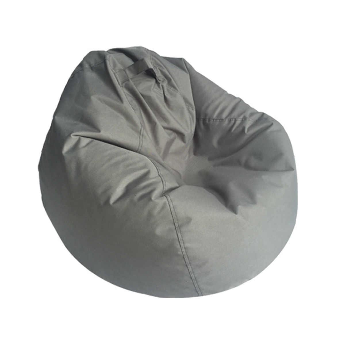 Preguiçoso Sofás BeanBag Impermeável Armazenamento De Brinquedo Bicho de pelúcia Sofás Beanbag do Saco de Feijão Tampa Da Cadeira Cor Sólida Sem Forro