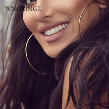 WNGMNGL 3Pair/Set Exaggeration Hoop Earrings Punk Statement Big Round Circle Earrings Gold Sliver Earrings jewelry For Women