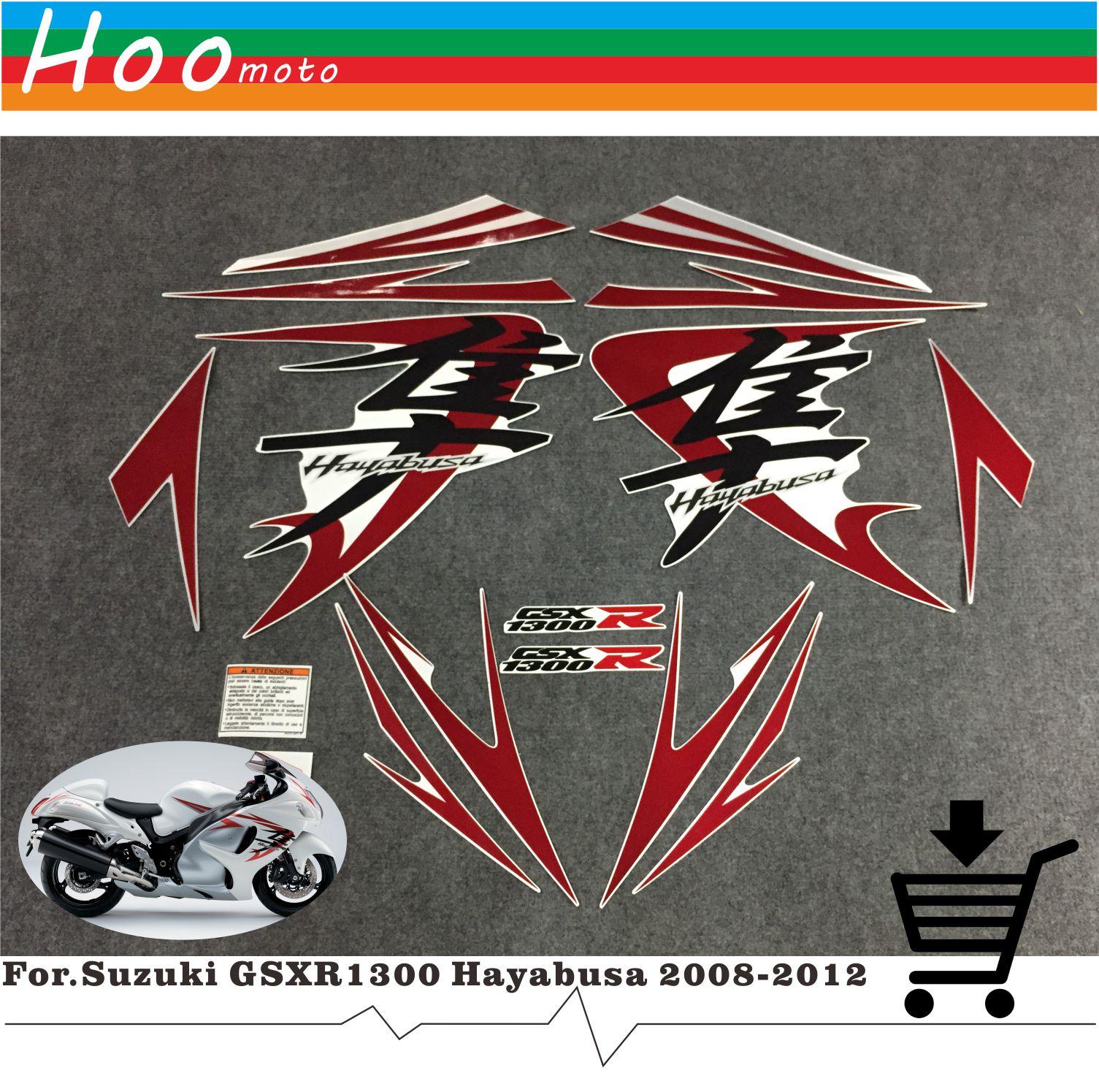 Для Suzuki GSXR1300 GSXR 1300 GSX R 1300 Hayabusa 2008-2012 наклейки этикетки мотоцикл весь автомобиля наклейки и надписи DIY MOTO