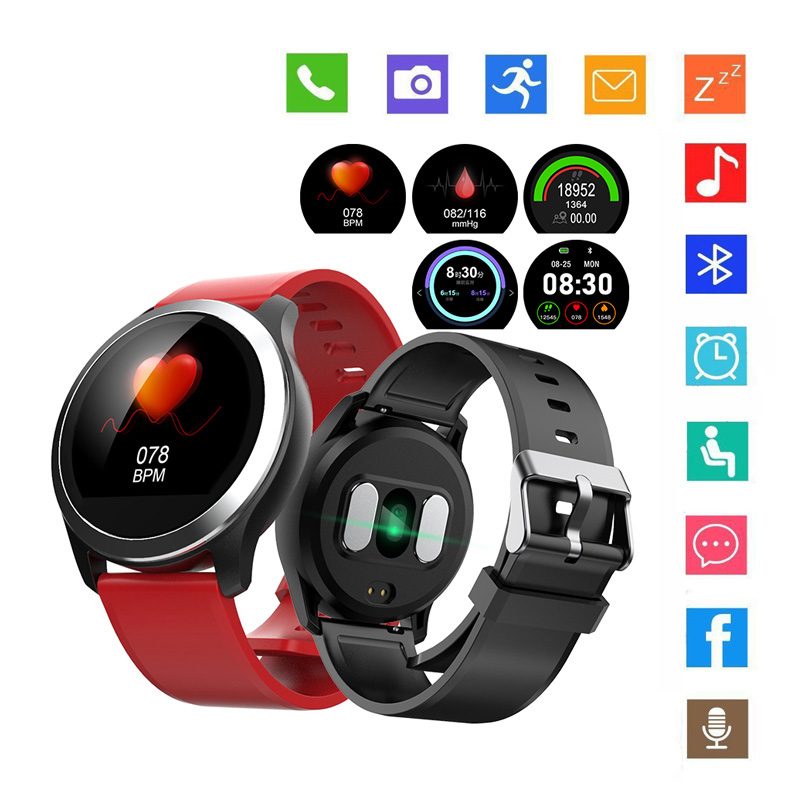 Smart-Bracelet Fitness Stainless-Steel with ECG Exercise Blood-Pressure-Monitor Wearable-Device