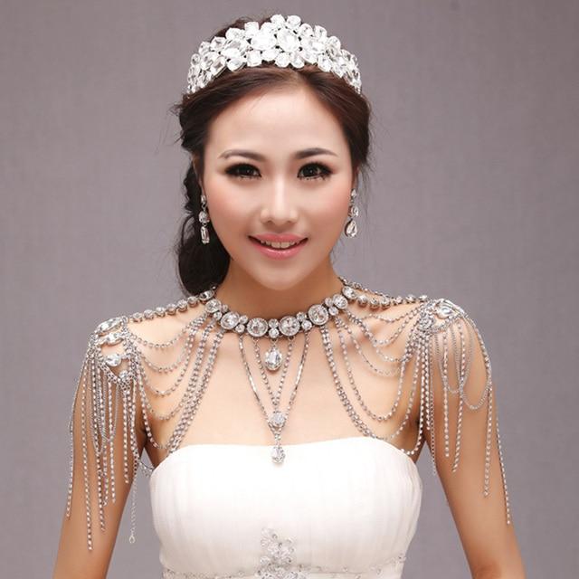 Aliexpress Com Buy New Fashion Necklace Earrings Bridal: Aliexpress.com : Buy New Fashion Bridal Shoulder Necklace