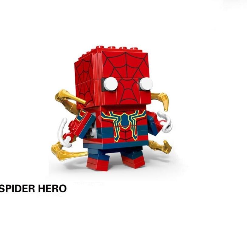 NEW brickheadz Legoinglys Christmas The Avengers Justice League Marvel Super Hero Hulk Thanos Building Block Bricks Toys 4