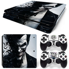 Decal Cover For Sony Play Station 4 Slim Console Skin And 2 Controller Protective Skins PS4 Slim Sticker Accessory