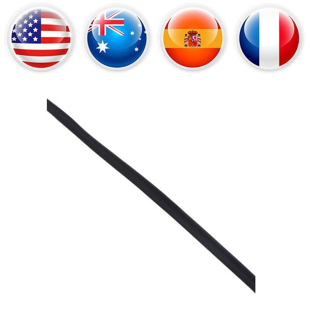 5 Meter Black Heat Shrink Tube Diameter 3mm Heat Shrink Tubing Shrinkable Tube for fishing Tackle Electrical Insulation