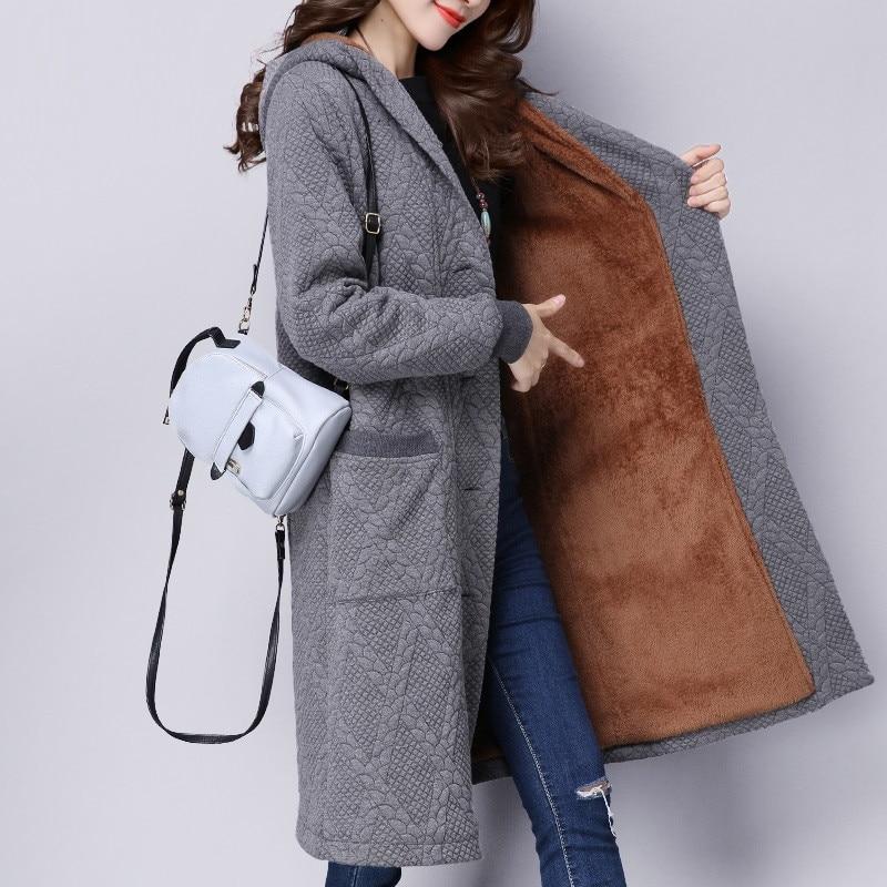 IOQRCJV veste d'hiver femmes épaississement Plus velours porter manteau neige femme vestes Parkas vêtements d'extérieur en coton femmes S130