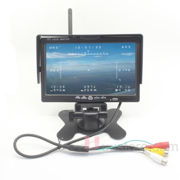 "AIO 7"" LCD HD FPV Monitor 5.8Ghz 40CH Buid-in Wireless Video Receiver Real Time Image Transmission for Remote Control FPV System"