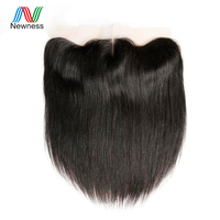 Newness Hair Peruvian Virgin Hair Straight Lace Frontal Closure 13x4 Free Part Ear To Ear Lace Closure Natural Color 10 22 inch