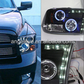 FOR Chrysler Dodge Ram 1500 LED Angel Eyes Headlight 2009-2015 Year with Blue light SN