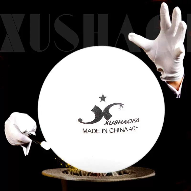 30/60 Balls XuShaoFa Table Tennis Balls Seamless 1 Star 40+ New Material XSF Poly Training ITTF Approved Plastic Ping Pong Ball