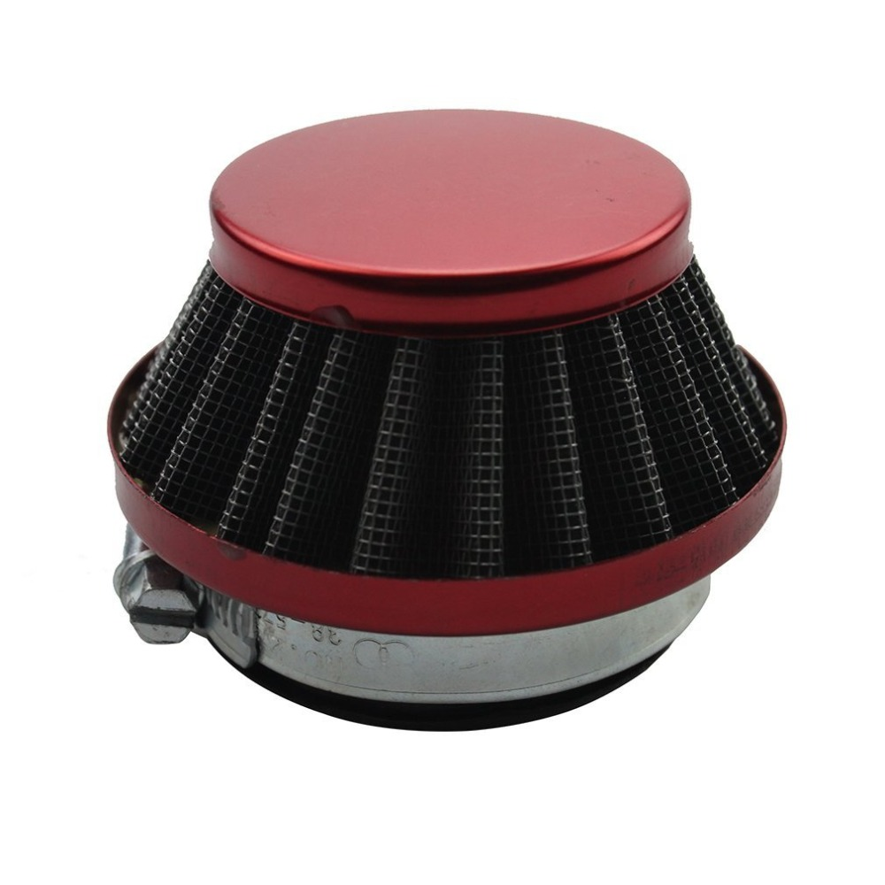 GOOFIT 44mm Red Air Intake Filter Cleaner System for 2Stroke 47cc 49cc ATV Dirt Bike Go Kart Pit Bike 4Wheeler Quad Dune Buggy