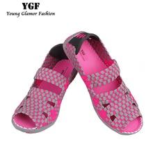 YGF Hecho A Mano Mujer Sandalias 2017 Del Verano Sandalias de Gladiador de Las Mujeres Tejen Los Zapatos de punta Abierta Pisos Sandalias para Las Mujeres Zapatos de Trenza
