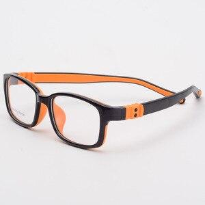Image 4 - Bclear tr90 실리콘 안경 어린이 유연한 보호 어린이 안경 디옵터 안경 고무 어린이 스펙타클 프레임 소년 소녀