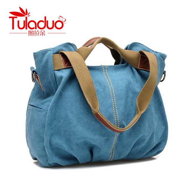 TULADUO 2016 Canvas Women Bag Casual Women Messenger Bags designer brand Vintage Fashion Women's Crossbody Bag Shoulder handbags