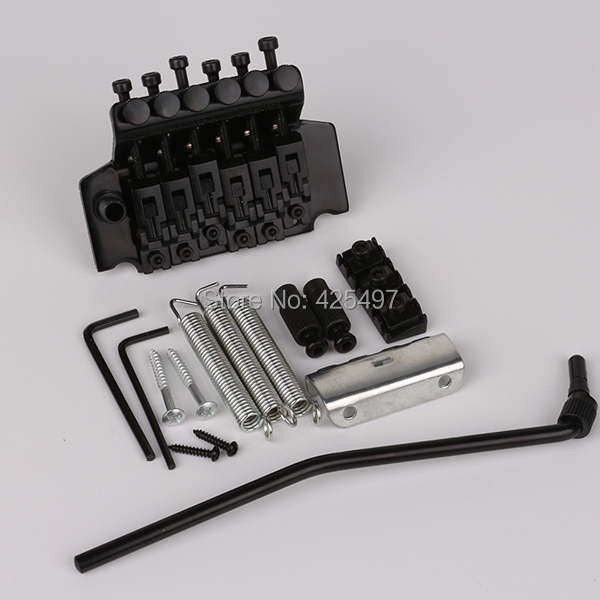 New Designed Black Electric Guitar Floyd Rose Tremolo Bridge Set genuine original floyd rose 5000 series electric guitar tremolo system bridge frt05000 black nickel cosmo without packaging