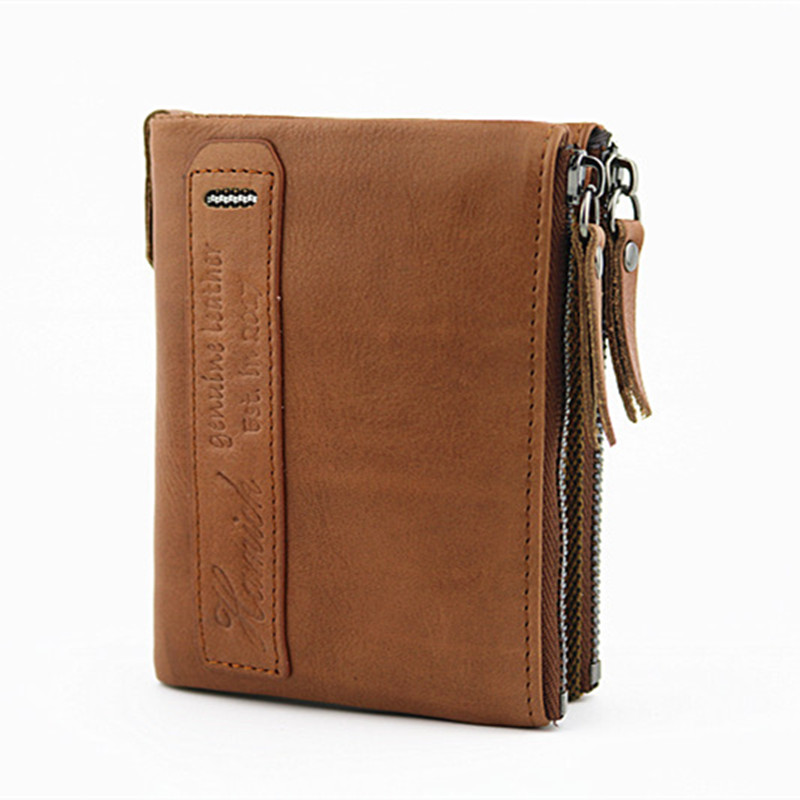 Genuine Leather Men Wallet Short Coin Purse Small Vintage Wallets Brand High Quality Portomonee Card Holder Bifold Wallet 2017 new wallet small coin purse short men wallets genuine leather men purse wallet brand purse vintage men leather wallet page 6