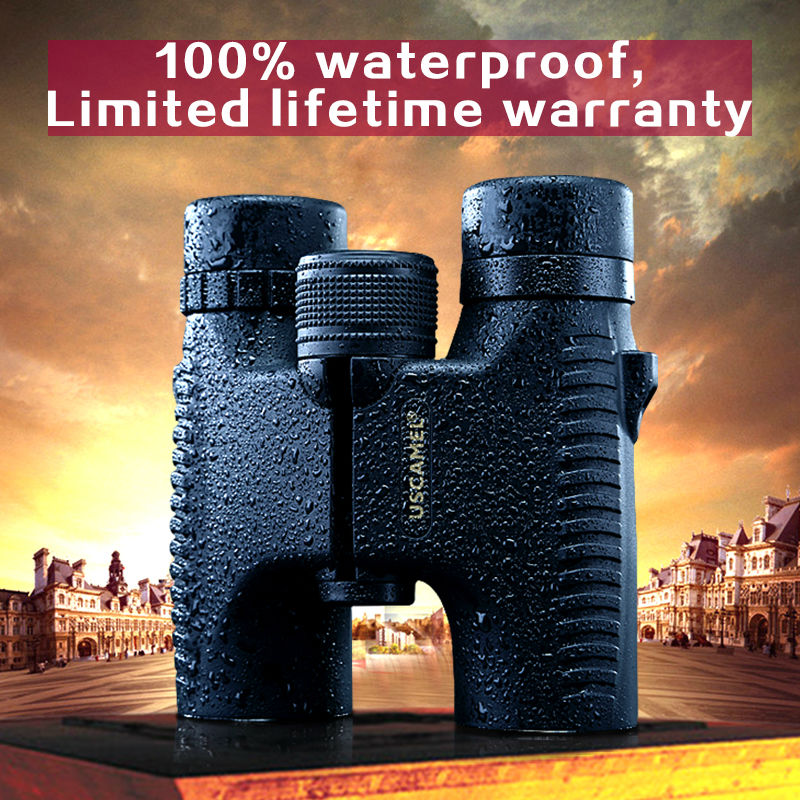 USCAMEL HD 10x26 font b Binoculars b font Powerful Zoom Long Range 5000m Professional Waterproof Folding