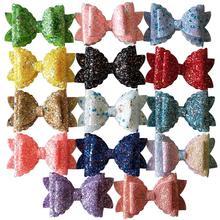 3,5 дюймовые двухслойные повязки для волос с блестками для девочек модный с блёстками заколки для волос 14 шт./партия