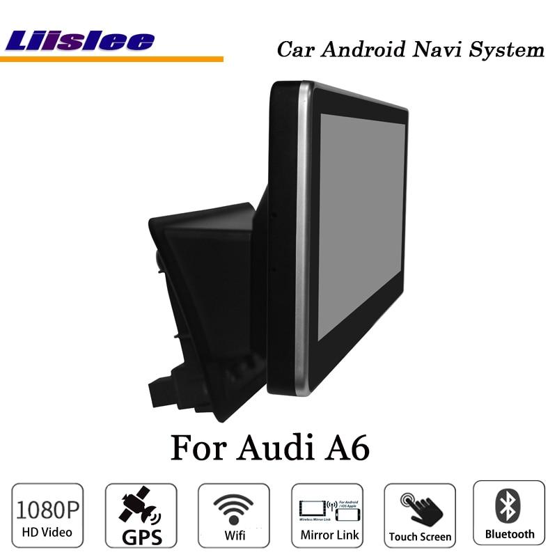 Liislee 10.25 Inch Car Android Multimedia For Audi A6 Blu-ray Anti-Glare Stereo Carplay GPS Navi Map Navigation Original System-5