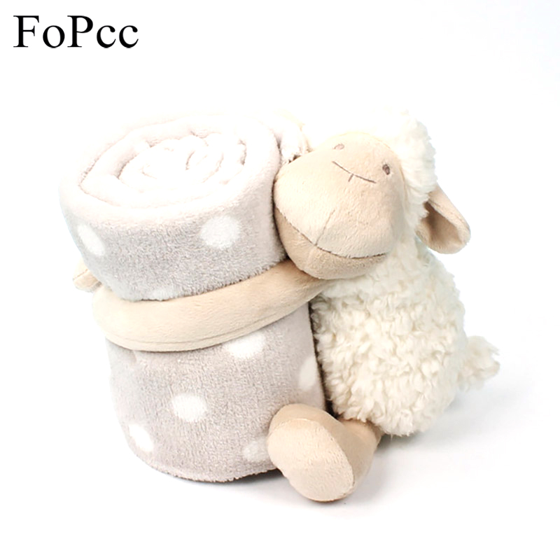 FoPcc Hot Sale Very Cute Sleepy Sheep Creative Plush Toy and Blanket Stuffed Toy Doll Sheep Children Baby Toy Christmas Gift