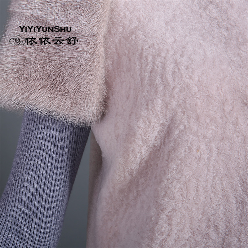 2576ffca51d3e Moda Real importado Ovelhas Merino Casaco De Pele Das Mulheres de Pele De  Vison Inverno Abrigos Mujer Bolso pele de carneiro Casaco De Peles de Lã  Colete ...