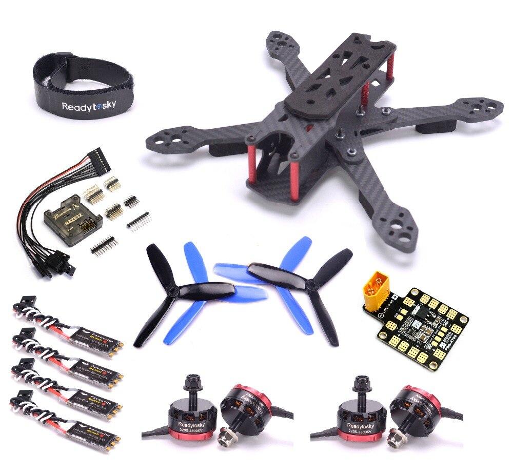 REPTILE martien IV cadre 220mm RS2205 2300KV 3-4 s moteur Littlebee printemps 20A BLHeli_S ESC NAZE32 Kit de Drone de contrôle de vol